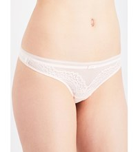 Triumph Beauty Full Darling Lace And Mesh Thong Orange Highlight