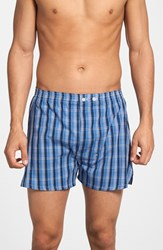 Men's Big And Tall Nordstrom Classic Fit Cotton Boxers Blue Navy