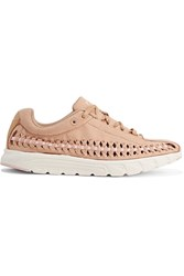 Nike Mayfly Woven Faux Leather Trimmed Faux Suede Sneakers Sand