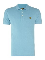 Lyle And Scott Men's Short Sleeve Classic Polo Light Blue