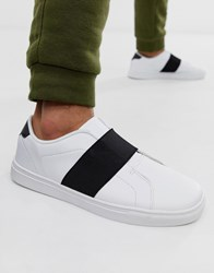 Loyalty And Faith Stripe Trainer In White