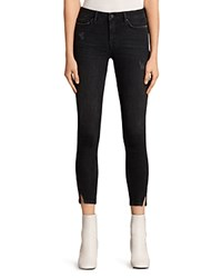 Allsaints Mast Twisted Jeans In Washed Black
