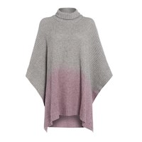 Pepper And Mayne 100 Cashmere Ombre Poncho Pink Purple