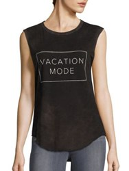 Feel The Piece Tyler Jacobs X Vacation Mode Tank Top Black