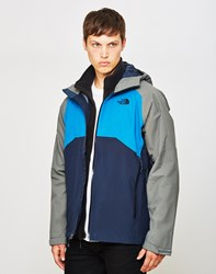 The North Face Stratos Jacket Blue Grey Multi