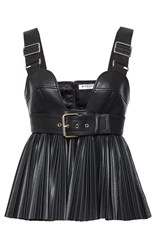Givenchy Faux Leather Top Black