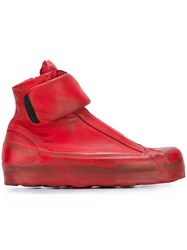 Oxs Rubber Soul Zipped Hi Top Sneakers Red