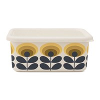 Orla Kiely '70S Flower Container Medium Yellow