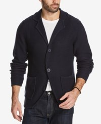 Weatherproof Vintage Men's Chunky Knit Cardigan Navy