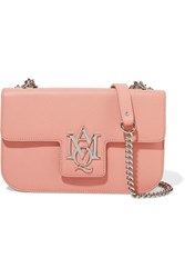 Alexander Mcqueen Insignia Textured Leather Shoulder Bag Pink