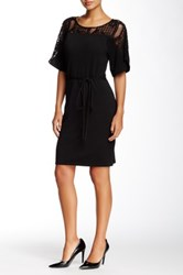 Yoana Baraschi Apollo Cape Sleeve Dress Black