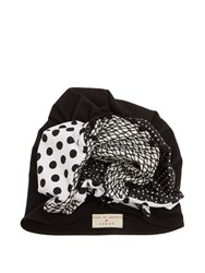 Figue X House Of Lafayette Frida Panelled Turban Hat Black