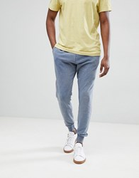 Brave Soul Washed Out Joggers Blue