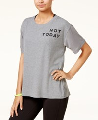 Material Girl Active Juniors' Not Today Graphic T Shirt Created For Macy's Grey