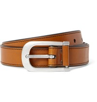 Tom Ford 3Cm Brown Leather Belt Tan