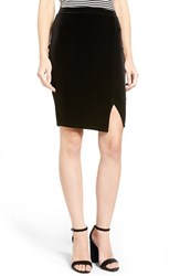 Soprano Women's Velvet Pencil Skirt