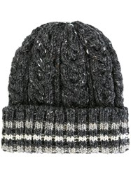 Thom Browne Cable Knit Hat Grey