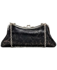 Patricia Nash Lina Frame Small Clutch Black Haircalf