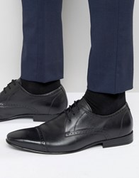 Frank Wright Toe Cap Oxford Shoes In Black Black
