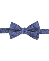 Countess Mara Men's Malificent Paisley Pre Tied Bow Tie Navy