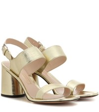 Marc Jacobs Emilie Strap Sandals Gold