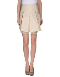 Amy Gee Knee Length Skirts Beige