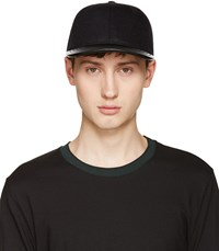 Rag And Bone Black Wool Leather Cap