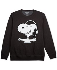 Jem Peanuts Snoopy Headphones Long Sleeve Fleece Gray