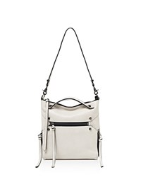 Botkier Logan Mini Leather Hobo Ivory Gunmetal