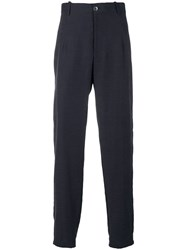 Emporio Armani Tapered Trousers Blue