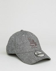 New Era 9Forty Adjustable Cap La Dodgers In Tweed Gray