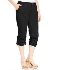 Inc International Concepts Plus Size Ruched Cargo Pants Deep Black