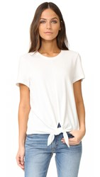 Madewell Levine Solid Tie Front Top Bright Ivory