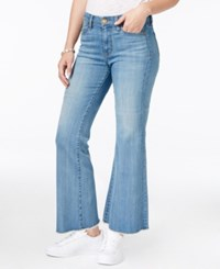 Kut From The Kloth Belle Flare Leg Cropped Mild Wash Jeans
