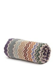 Missoni Home Rufus Zigzag Cotton Bath Sheet Brown Multi