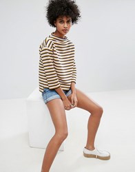 Soaked In Luxury Striped Top Multi