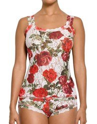Hanky Panky Floral Printed Scoopneck Camisole Red White