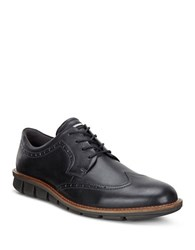 Ecco Jeremy Brogue Tie Ankle Boots Black