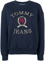Tommy Jeans Embroidered Logo Sweatshirt Blue