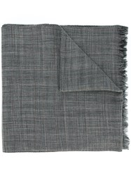 Maison Martin Margiela Checked Scarf Grey