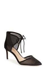 Imagine By Vince Camuto Women's 'Mark' Mesh Panel D'orsay Pump Black Suede