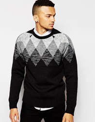 D Struct Lundy Shaped Argisle Jumper Black
