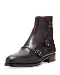 Magnanni Hand Antiqued 3 Buckle Chelsea Boot Gray