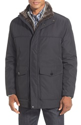 Andrew Marc New York Marc New York By Andrew Marc 'Clinton City' Rain Coat With Faux Fur Lining Black