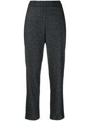 Fabiana Filippi Pleated Cropped Trousers Grey