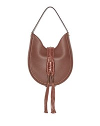 Altuzarra Ghianda Woven Leather Hobo Bag Brown