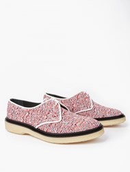 Adieu Red Woven Type 1 Derby Shoes