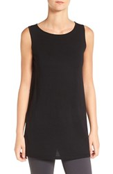 Eileen Fisher Women's Merino Wool Jersey Ballet Neck Sleeveless Sweater