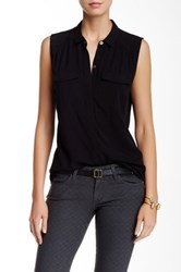 Ag Jeans Sway Sleeveless Blouse Black