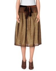 So Nice Knee Length Skirts Khaki